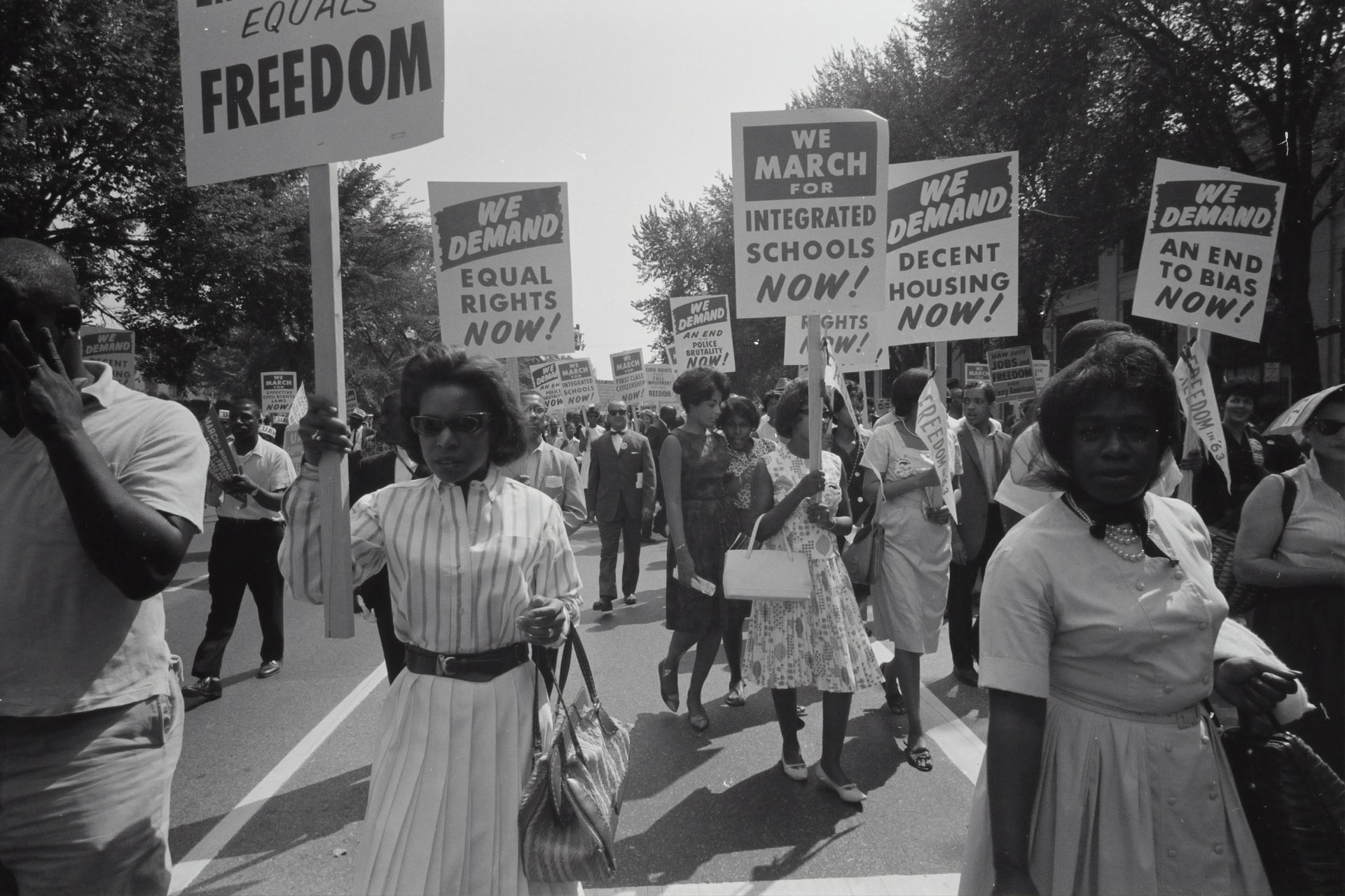 black women marching for their rights library of congress equal rights march